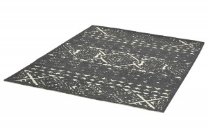 Dywan WX The Rug Republic LINWOOD dark grey wełna