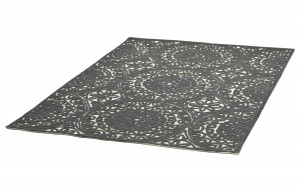 Dywan WX The Rug Republic BORNEO dark grey wełna